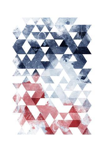 Americana Triangles Too Art Print