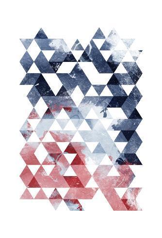 Americana Triangles Art Print