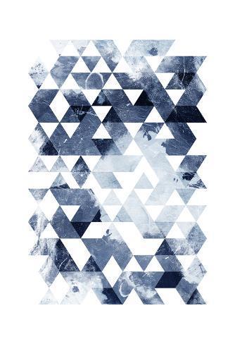 Blue Triangles Mate Art Print