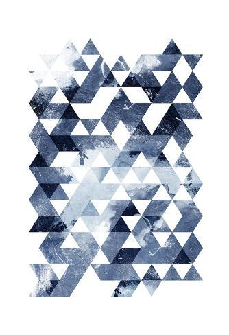 Blue Triangles Art Print