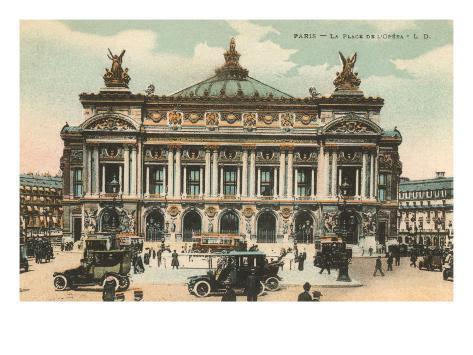 Opera House, Paris, France Art Print