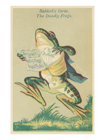 Opera Singing Dandy Frog Stretched Canvas Print