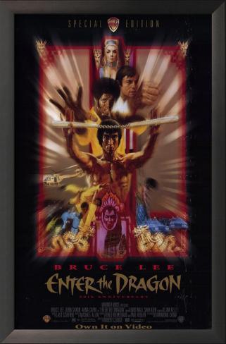 Operação Dragão Impressão artística emoldurada