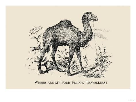 Optical Illusion Puzzle: Four Fellow Travellers Art Print