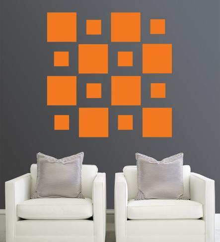 Orange Squares Wall Decal