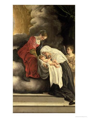 Madonna and Child with St. Frances of Rome Giclee Print