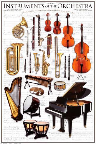Orchestra sinfonica: strumenti Poster