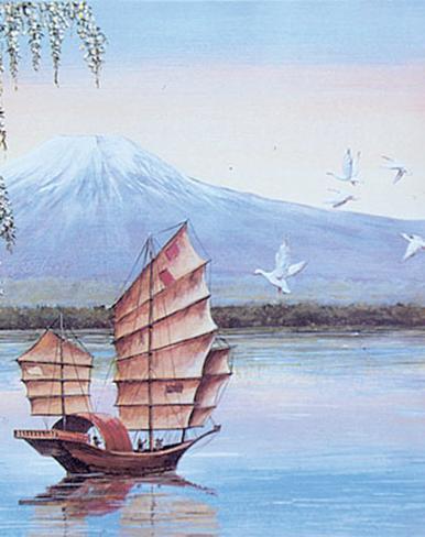 Oriental Junk Art Print