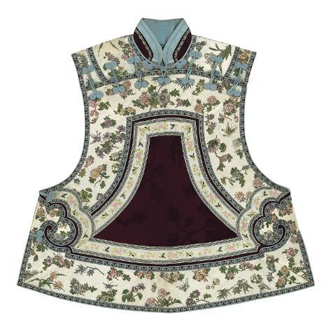Embroidered Silk, Floral Tabbard, Front Premium-giclée-vedos