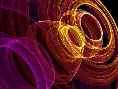 Abstract Background with Colorful Rings Art Print