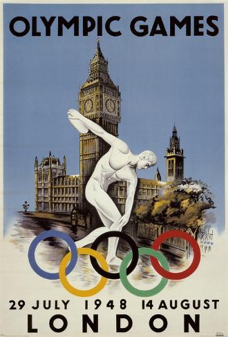 OS i London 1948 Poster
