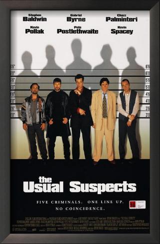 Os Suspeitos Impressão artística emoldurada