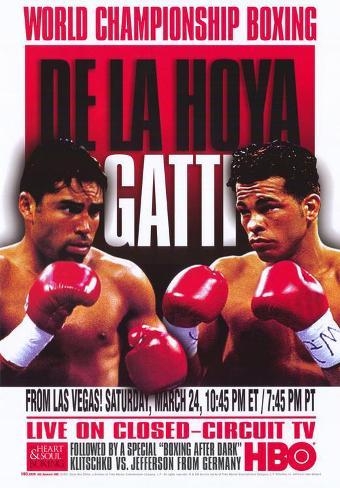 Oscar De La Hoya vs Arturo Gatti Impressão original
