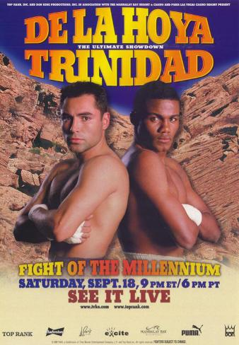Oscar De La Hoya vs Felix Trinidad Masterprint