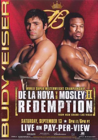 Oscar De La Hoya vs Shane Mosley Masterprint