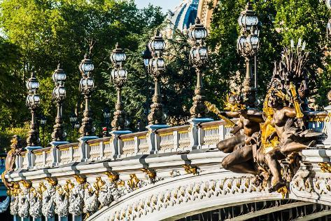 Pont Alexandre III  Alexander the Third Bridge in the City of Paris in France Photographic Print