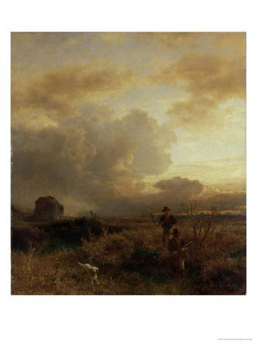 Clearing Thunderstorm in the Countryside, 1857 Giclee Print