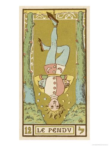 Tarot: 12 Le Pendu, The Hanged Man Giclee Print