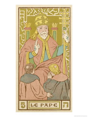 Tarot: 5 Le Pape, The Pope Giclee Print