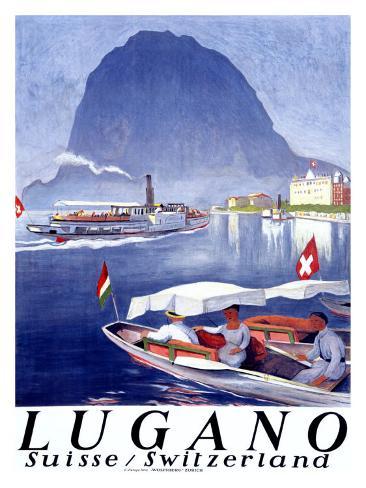 Lugano Giclee Print