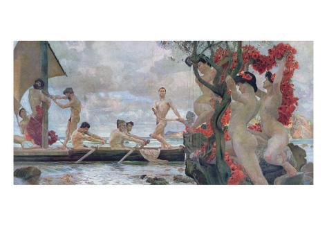 Ulysses and the Sirens, c.1900 Giclee Print