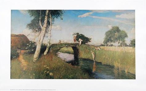 Sommer am Moorkanal Art Print