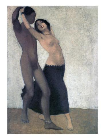 An Afro-European Couple of Dancers, C.1903 Giclee Print
