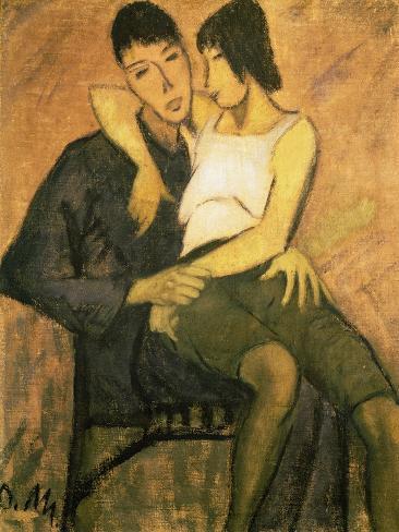 Urbanite Couple, 1920 Impressão giclée