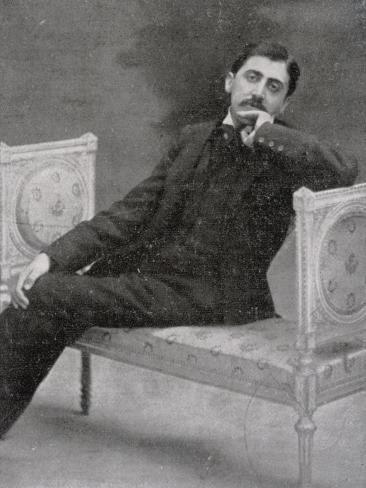 Marcel Proust French Writer Relaxing on an Ornate Sofa Photographic Print