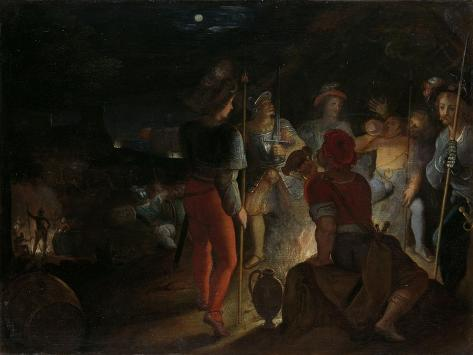 Batavians Besiege the Roman Army Regiments at Vetera Art Print