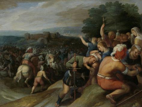 Batavians Surround the Romans at Vetera Art Print