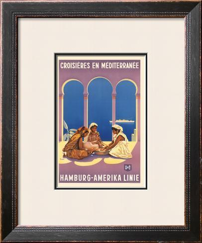 Hamburg Amerika Linie, Croisieres en Mediterranee Framed Giclee Print