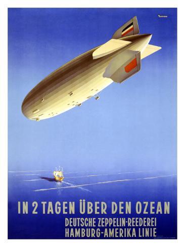 In 2 Tagen Uber Den Ozean Giclee Print