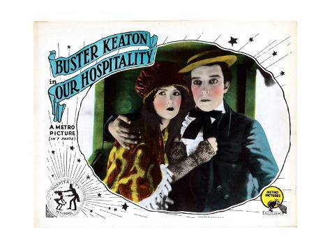 Our Hospitality, from Left: Natalie Talmadge, Buster Keaton, 1923 Impressão giclée