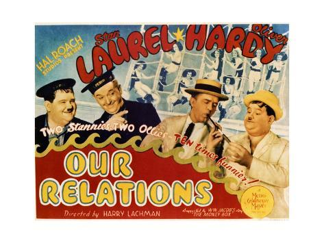 Our Relations - Lobby Card Reproduction Art Print