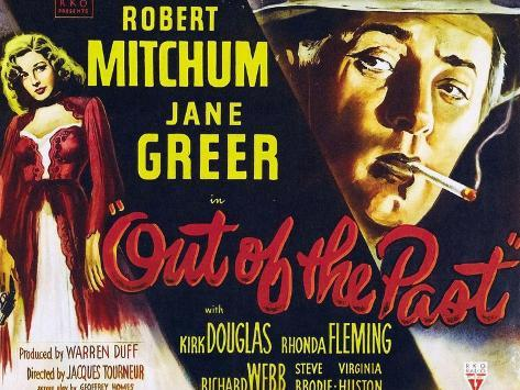 Out of the Past, UK Movie Poster, 1947 Art Print