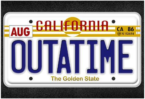 OUTATIME License Plate Movie Poster Póster