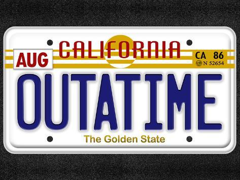 OUTATIME License Plate Pôster