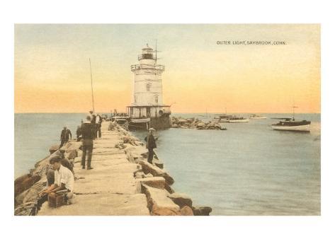 Outer Lighthouse, Saybrook, Connecticut Art Print