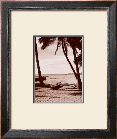 Outrigger Beach Framed Art Print