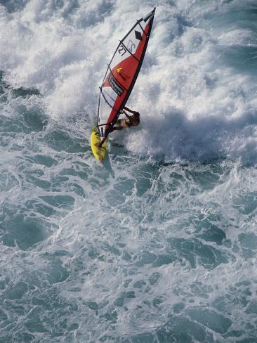 Overhead View of Windsurfer Photographic Print