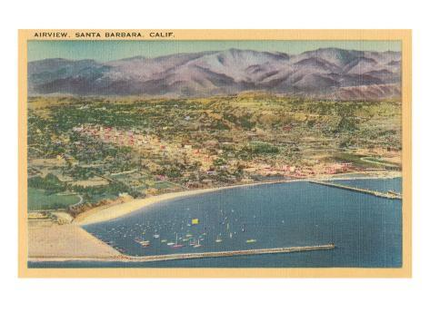 Overview of Santa Barbara, California Art Print