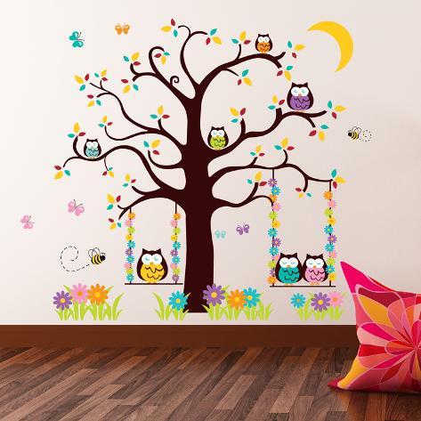 Owl Tree 2 Adesivo de parede