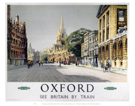 Oxford Middle of Road Art Print