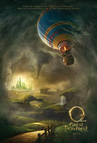 Oz The Great and the Powerful - a prequel to Wizard of Oz Double-sided poster