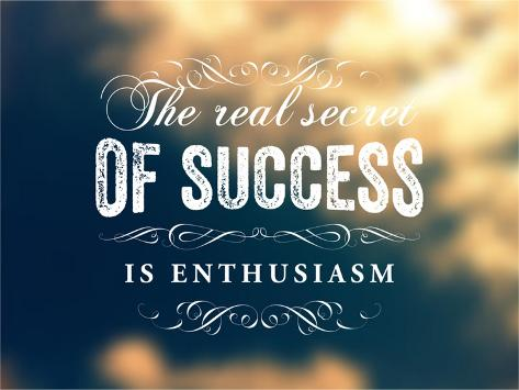 Quote typographical poster vector design. the real secret of