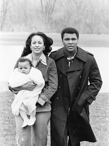 Muhammad Ali and Family - 1977 Photographic Print