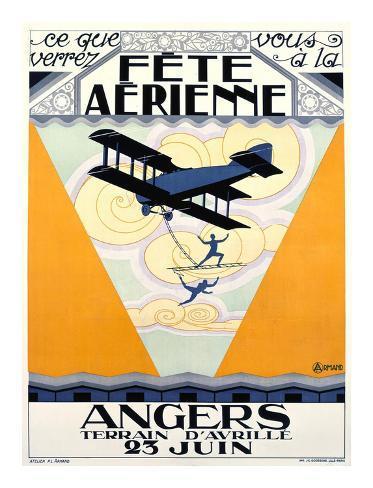 Fete Aerienne Angers Art Print