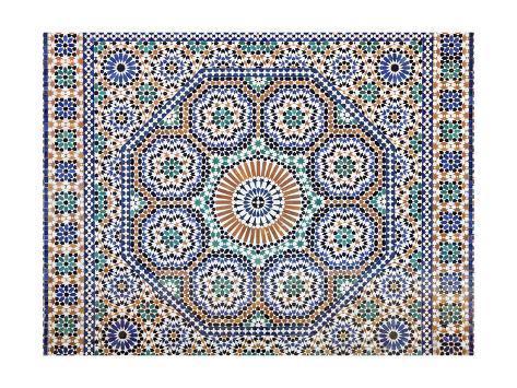 Oriental Mosaic In Morocco Art Print