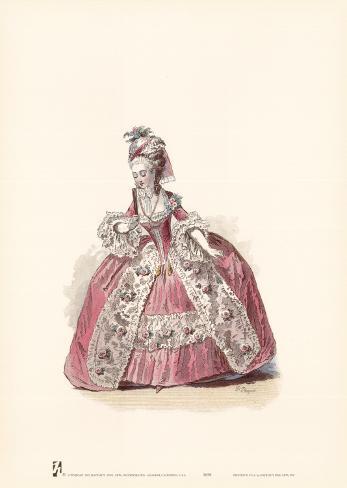 French Costumes Art Print